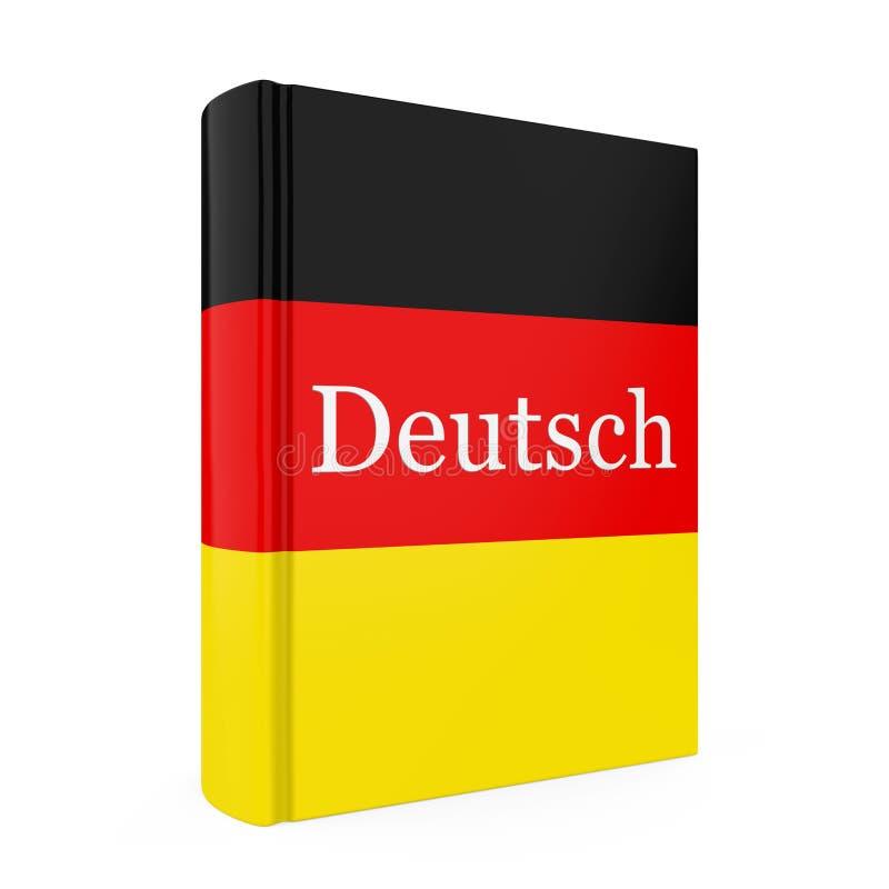 Duits Geïsoleerd Woordenboekboek royalty-vrije illustratie