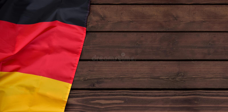 Duits het patriottisme zwart rood goud van Duitsland van de bannervlag royalty-vrije stock afbeelding