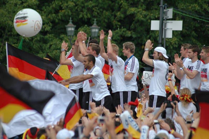 Duits nationaal voetbalteam stock fotografie