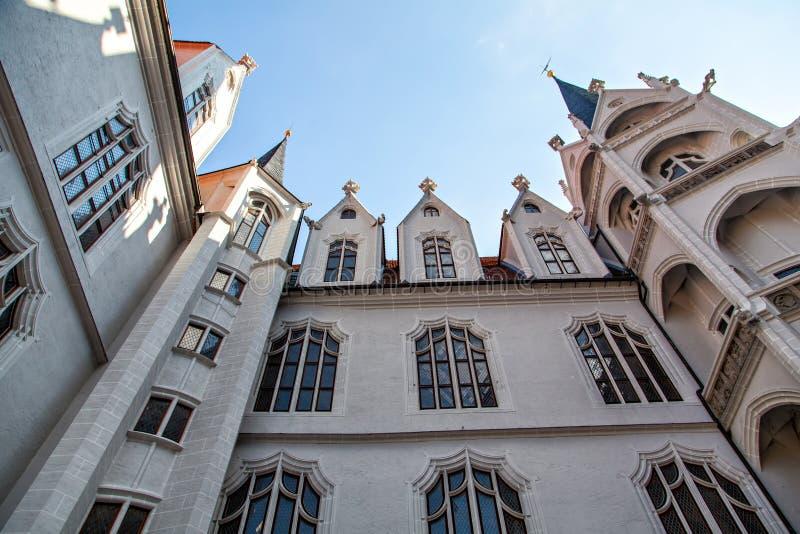 Duits oud kasteel, Meissen, Duitsland stock foto's