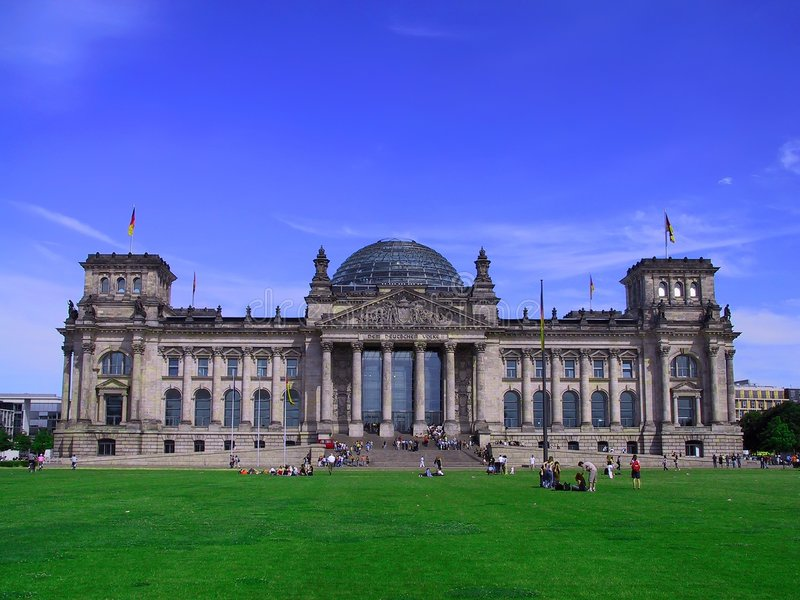 Duits Parlementsgebouw stock foto's