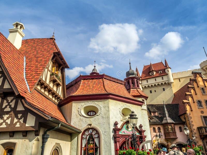 Duits Paviljoen, Wereldshowcase, Epcot stock foto