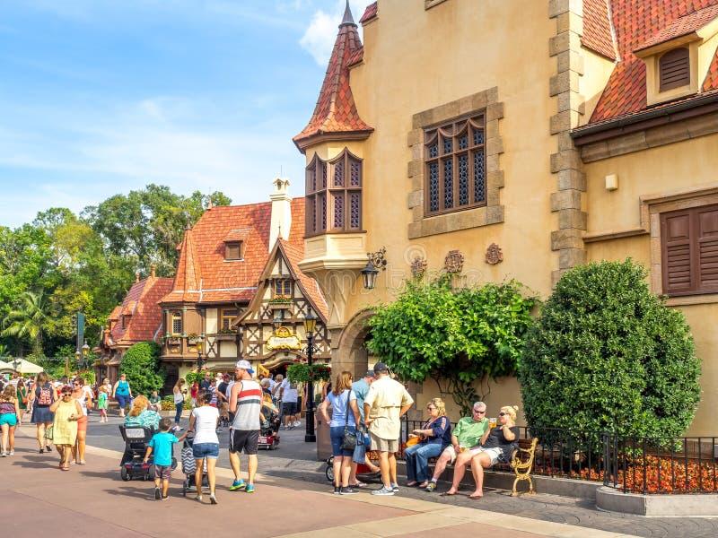Duits Paviljoen, Wereldshowcase, Epcot royalty-vrije stock fotografie