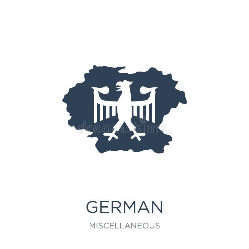 Duits pictogram in in ontwerpstijl Duits die pictogram op witte achtergrond wordt geïsoleerd Duits vectorpictogram eenvoudig en m vector illustratie