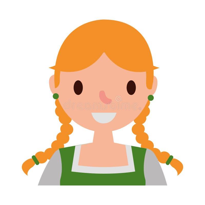 Duits vrouwen typisch avatar karakter royalty-vrije illustratie