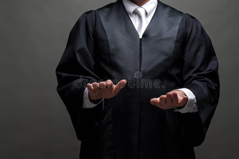 Duitse advocaat met een robe royalty-vrije stock afbeelding