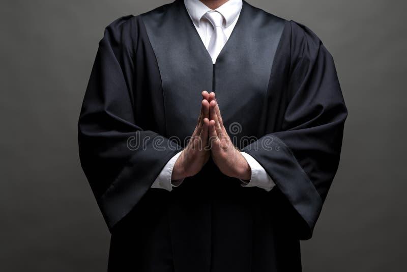 Duitse advocaat met een robe stock fotografie