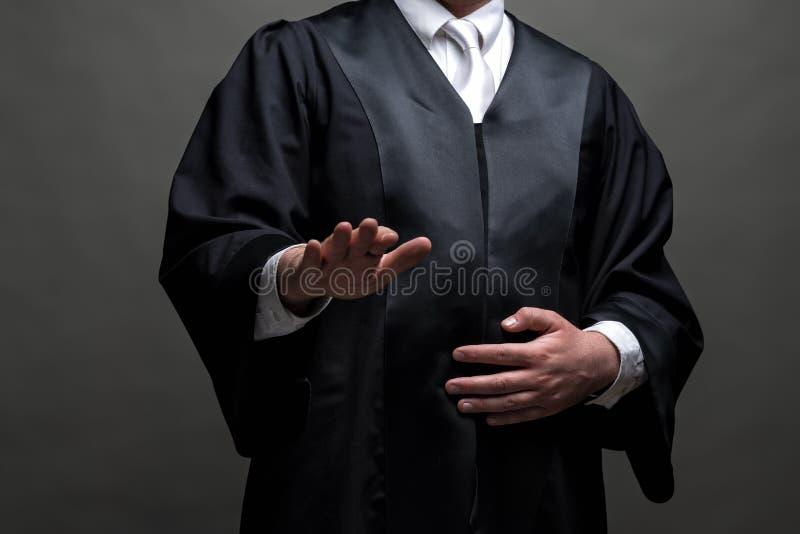 Duitse advocaat met een robe stock foto