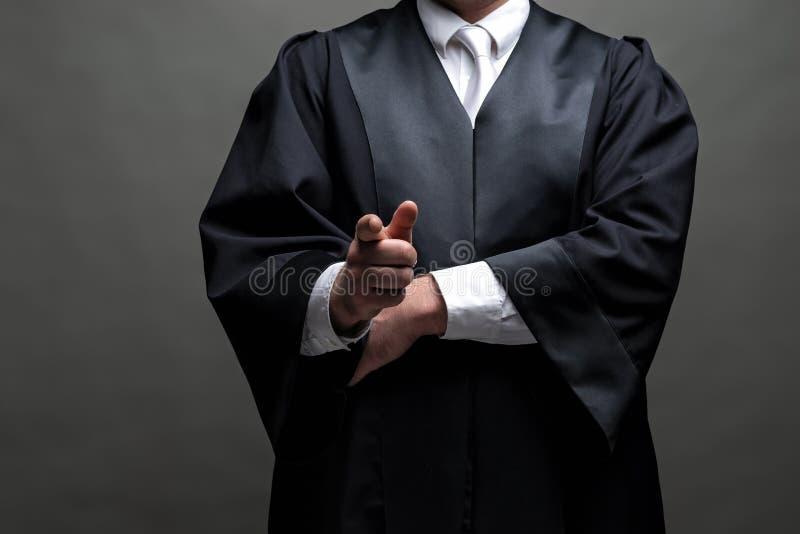 Duitse advocaat met een robe stock afbeelding