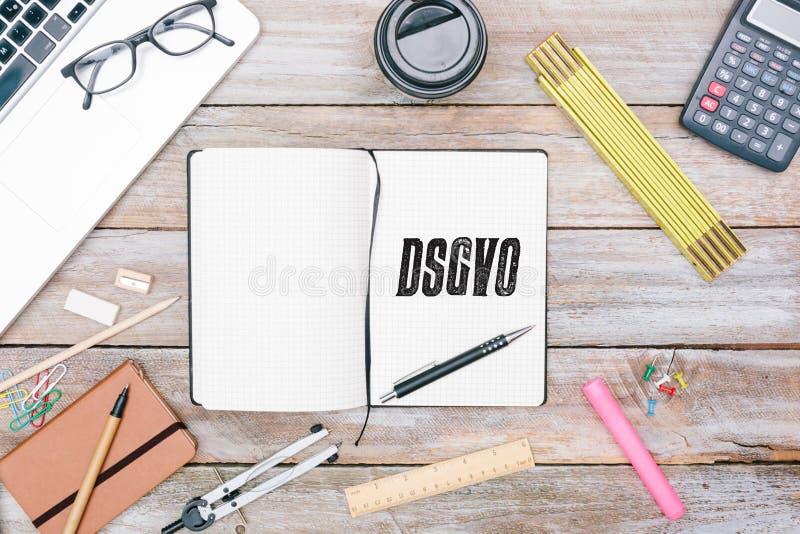 Duitse Algemene Gegevensbeschermingverordening DSGVO nieuwe wet in 201 royalty-vrije stock fotografie