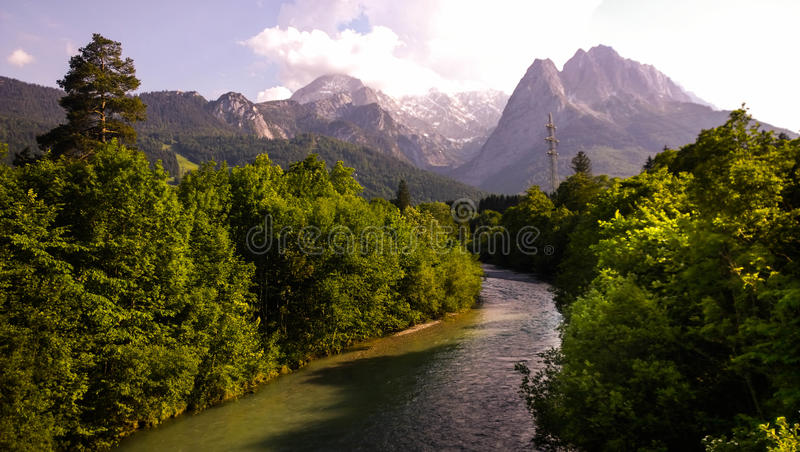 Duitse alpen royalty-vrije stock afbeelding