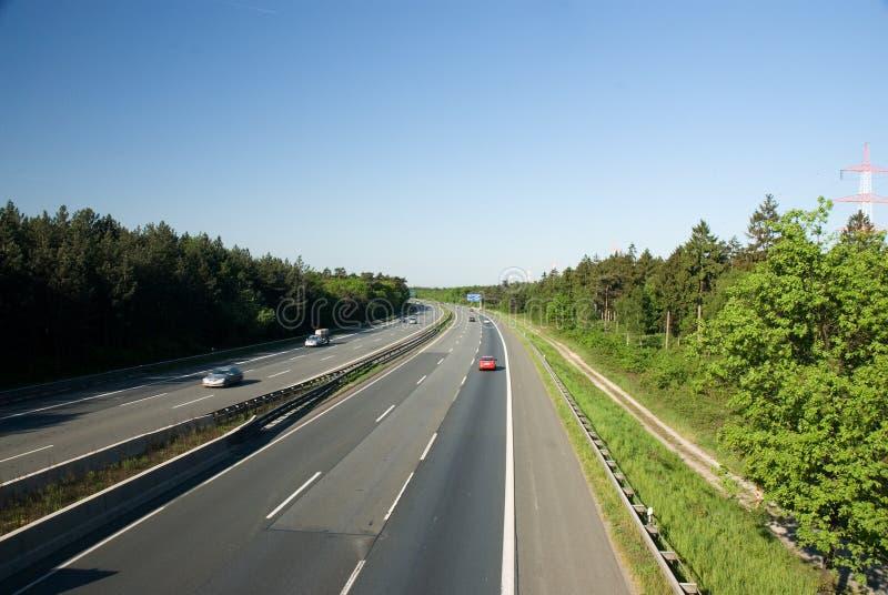 Duitse autobahn stock afbeeldingen