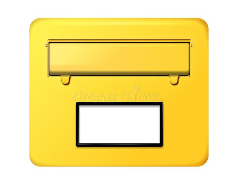 Duitse brievenbus royalty-vrije illustratie