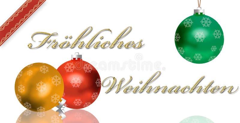 Duitse de groetkaart van Kerstmis royalty-vrije illustratie