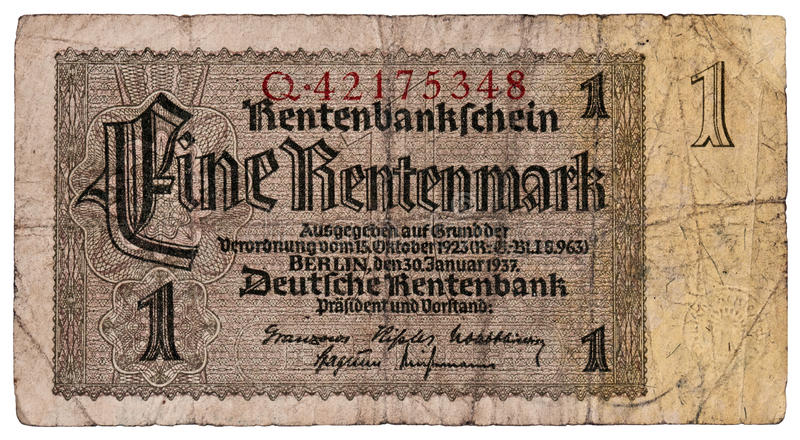 Duitse Duitse marken stock afbeeldingen