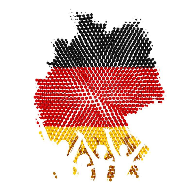 Duitse Eenheid royalty-vrije illustratie