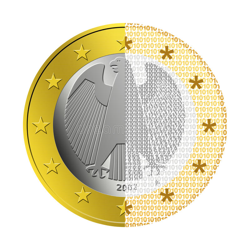 Duitse Euro e-Betaling stock illustratie