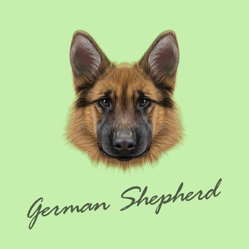 Duitse herder Dog vector illustratie