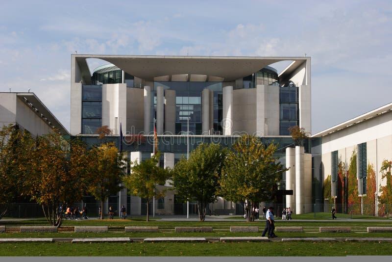 Duitse Kanselarij die Berlijn bouwt royalty-vrije stock afbeelding