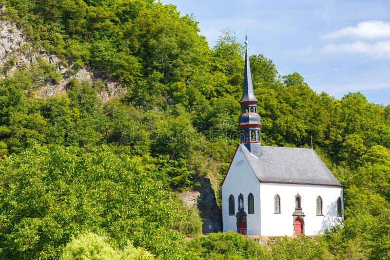 Duitse Kerk in Ahrbruck, District van Ahrweiler, Duitsland royalty-vrije stock fotografie