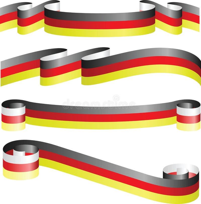 Duitse linten die op wit worden geïsoleerde stock illustratie