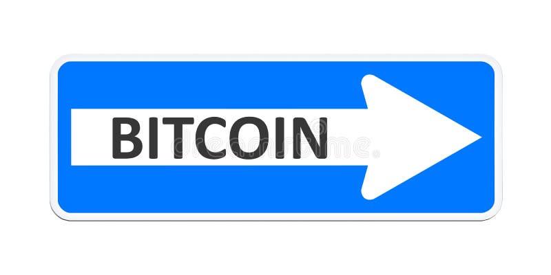 Duitse manierteken met het woord bitcoin stock illustratie