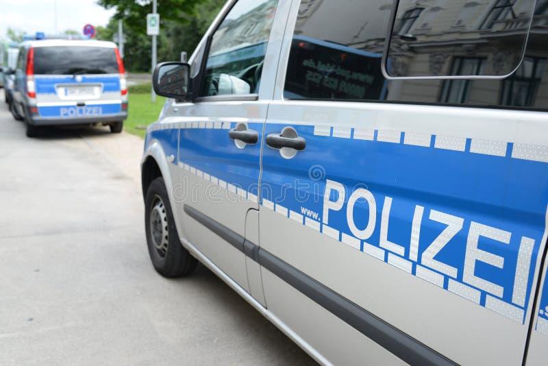 Duitse politie royalty-vrije stock fotografie
