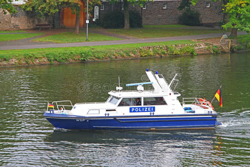 Duitse Politieboot royalty-vrije stock foto's