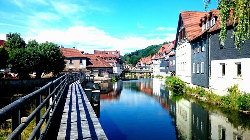 Duitse rivier stock foto
