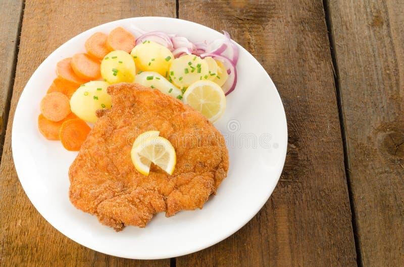 Duitse schnitzel stock foto