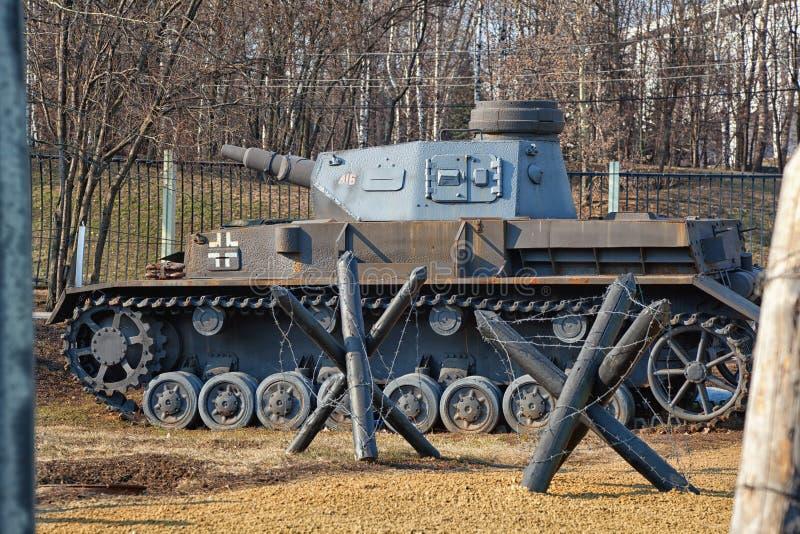 Duitse tank sinds Wereldoorlog II en anti-tank stock afbeeldingen
