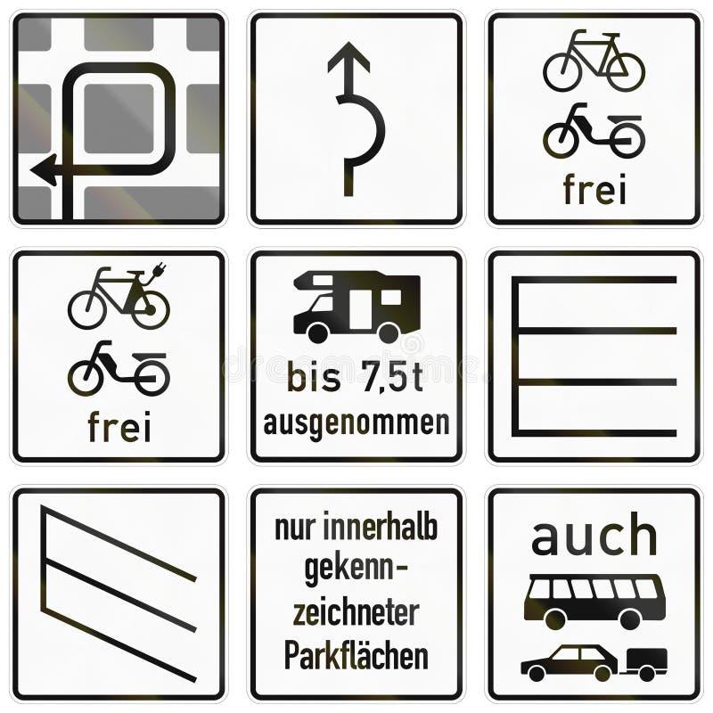 Duitse verkeersteken - instructies voor linkerdraai vector illustratie