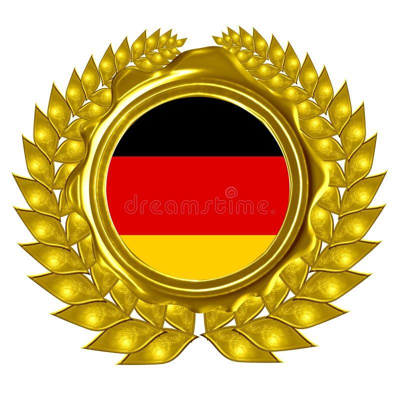 Duitse vlag vector illustratie