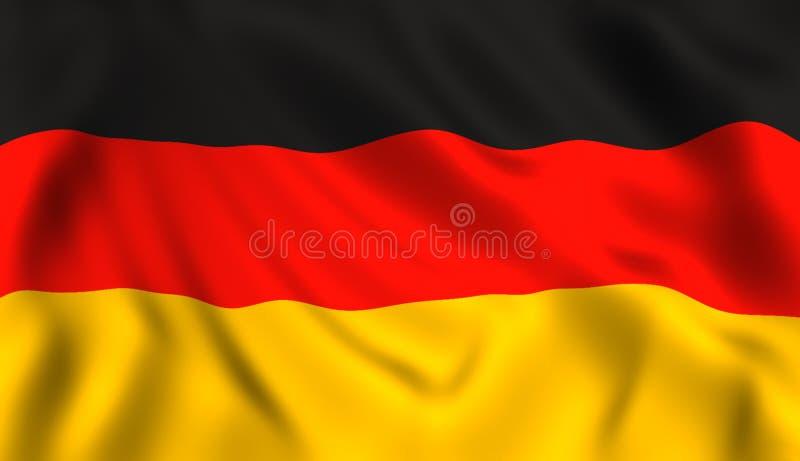Duitse vlag die in de wind golven stock illustratie