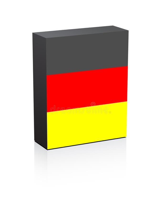 Duitse Vlag Op Doos Stock Fotografie
