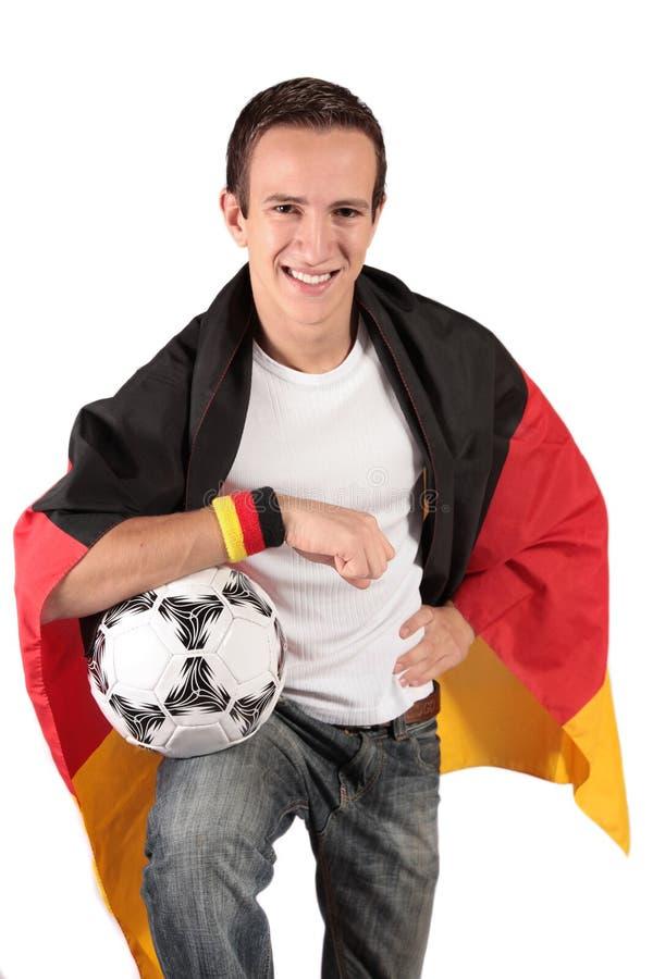 Duitse voetbalventilator stock foto's