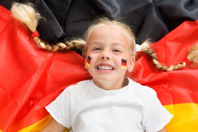 Duitse voetbalventilator royalty-vrije stock afbeelding