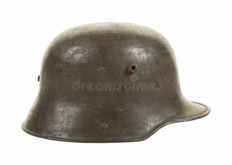 Duitse Wereldoorlog Één de Helm van het Staalgevecht in Profiel stock afbeeldingen