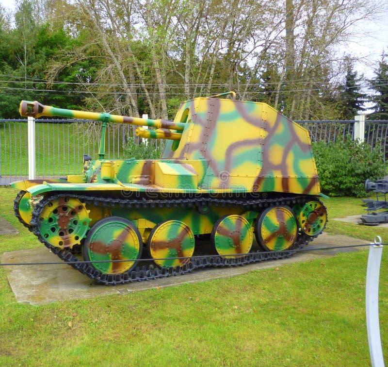 Duitse zelfrijdende artillerie Wespe camouflage kleur 2 Tweede Wereldoorlog stock foto