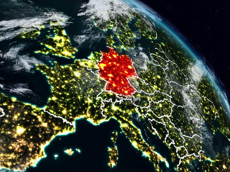 Duitsland bij nacht vector illustratie