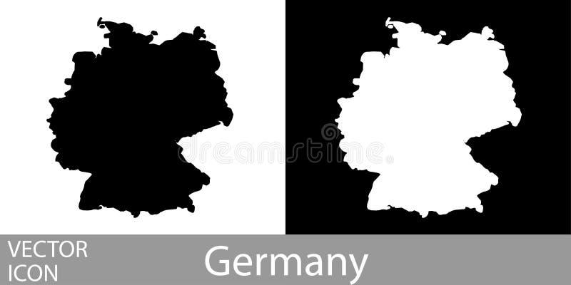 Duitsland detailleerde kaart stock illustratie