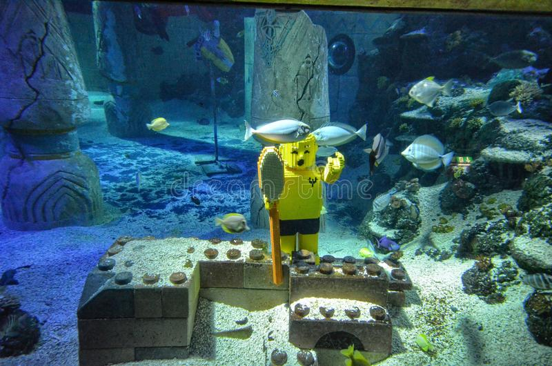 Duitsland, dichtbij Ichenhausen 25 het park ` Legoland ` van Lego van Juni 2015 stock afbeelding