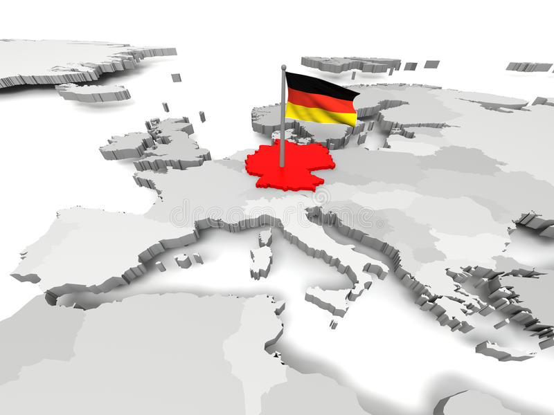 Duitsland een kaart van Europa vector illustratie