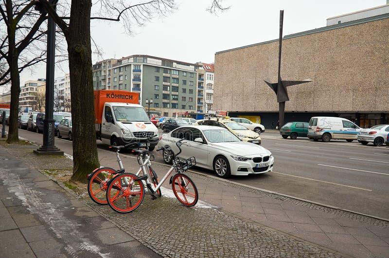 duitsland Het gebouw van Deutsche Oper in Berlijn op Bismarckstrasse 15 februari, 2018 stock fotografie