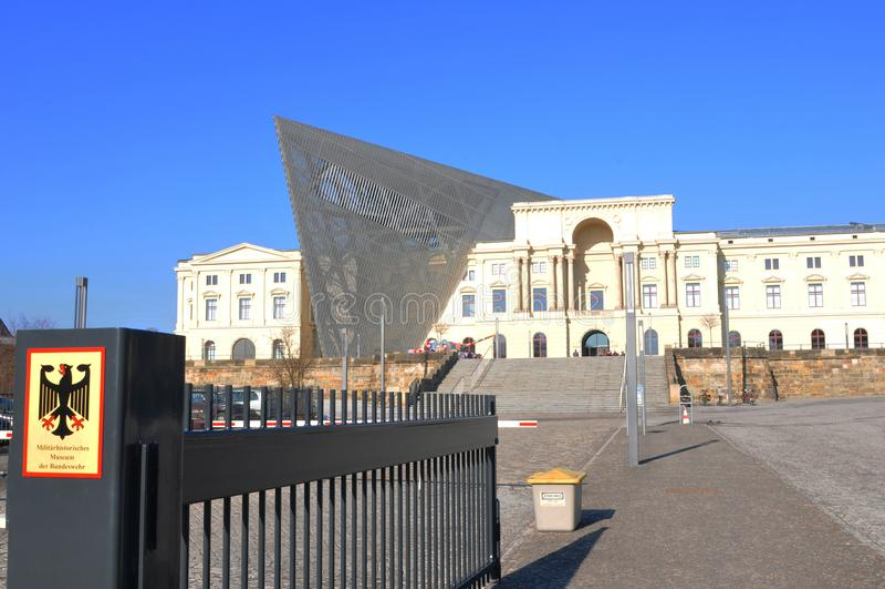 Duitsland: het militaire geschiedenismuseum in de stad van Dresden royalty-vrije stock afbeelding