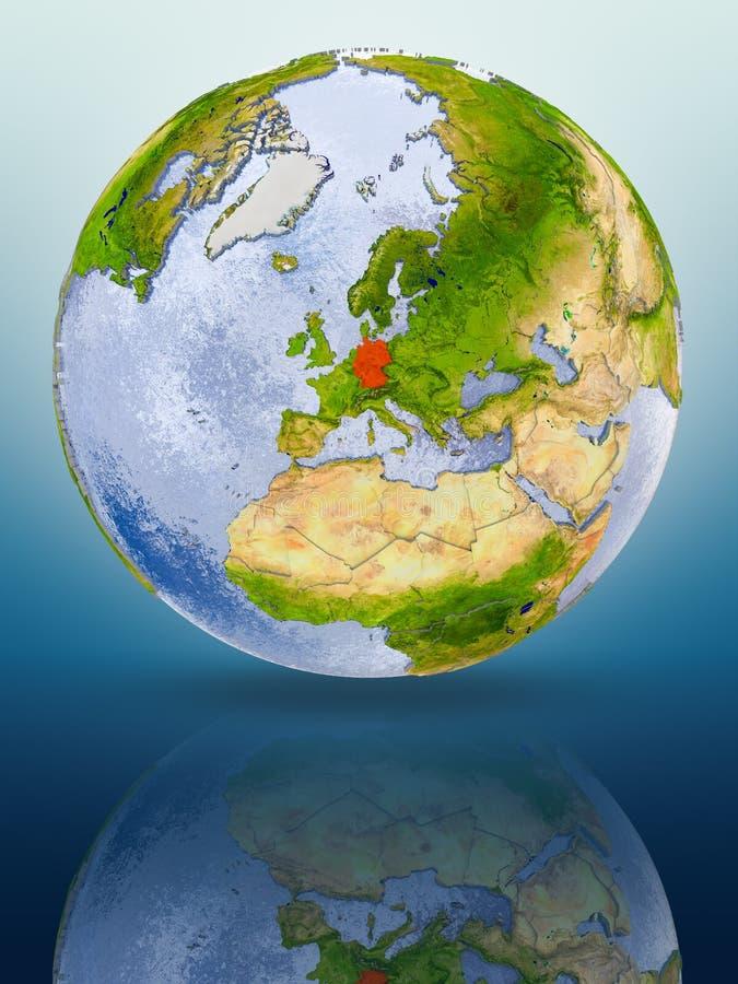 Duitsland op bol royalty-vrije illustratie
