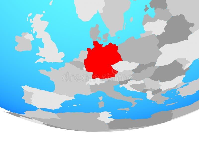 Duitsland op bol stock illustratie