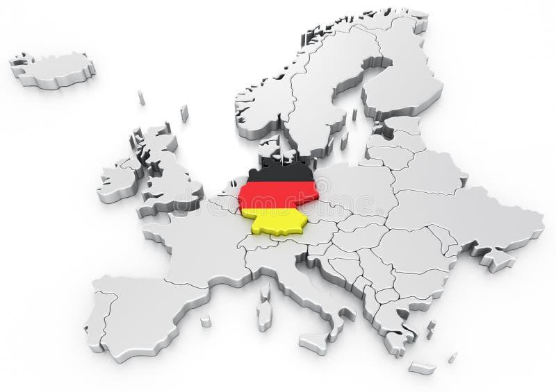 Duitsland op een Euro kaart vector illustratie