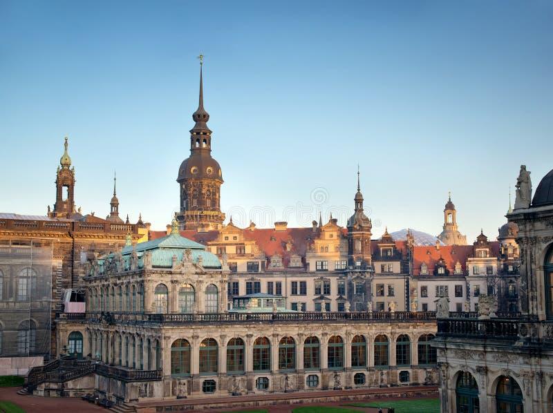duitsland Oud Dresden Zwinger stock fotografie