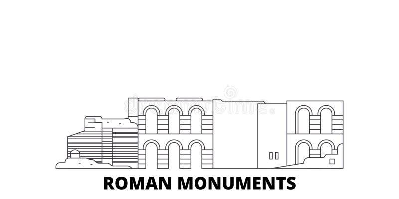 Duitsland, Trier, Roman Monuments, Kathedraal van St Peter And Church Of Our de reeks van de de reishorizon van de Damelijn Duits vector illustratie